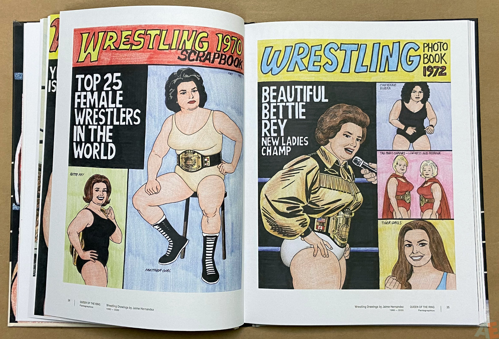 Queen of the Ring Wrestling Drawings by Jaime Hernandez 1980 2020 interior 5