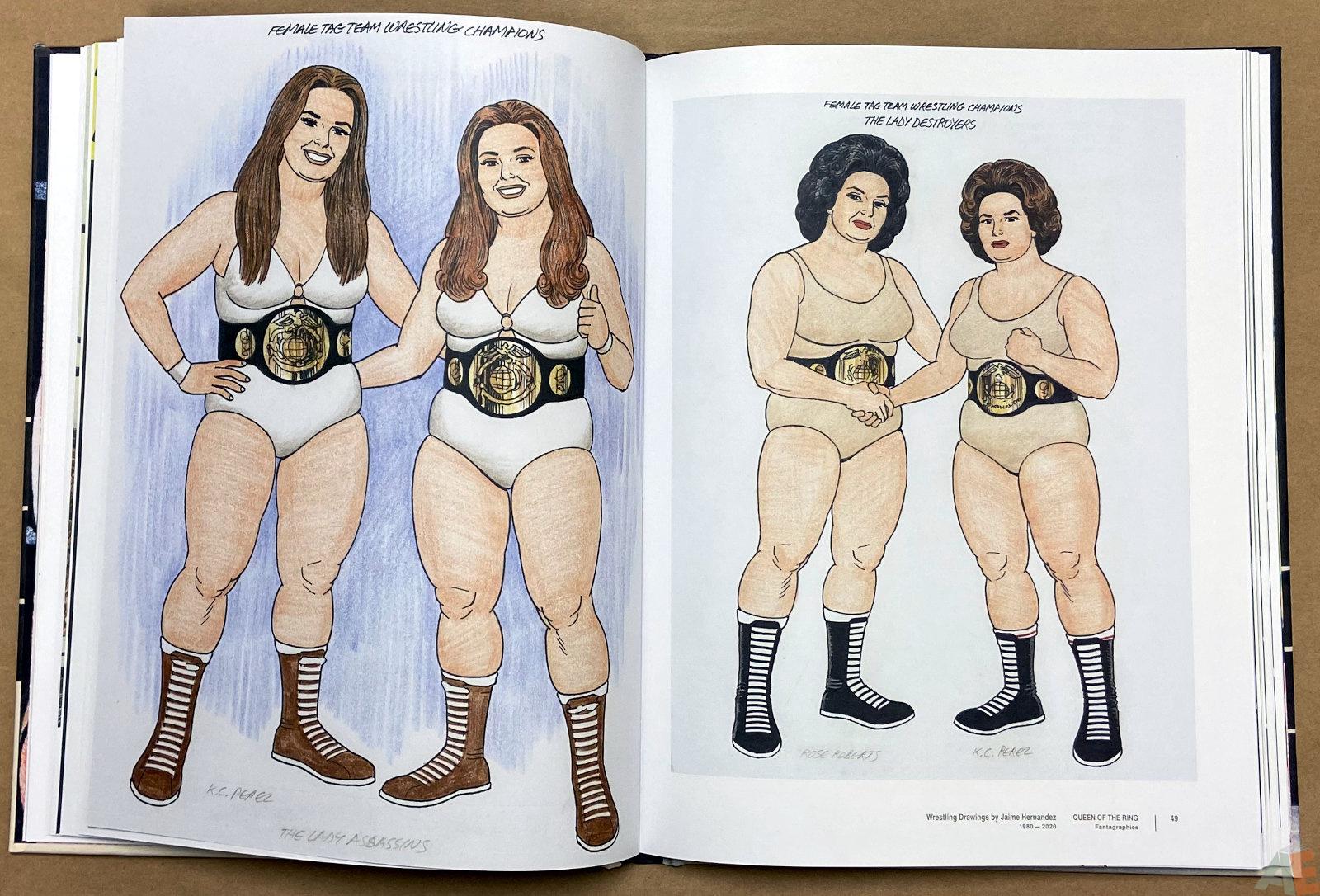 Queen of the Ring Wrestling Drawings by Jaime Hernandez 1980 2020 interior 6