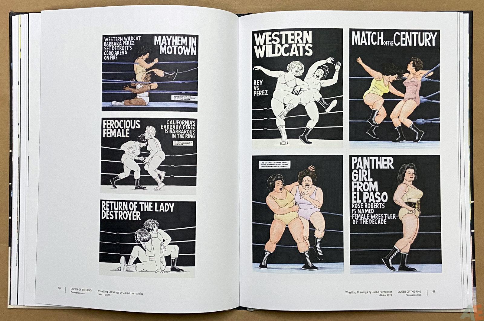 Queen of the Ring Wrestling Drawings by Jaime Hernandez 1980 2020 interior 8