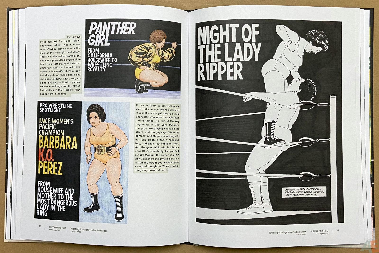 Queen of the Ring Wrestling Drawings by Jaime Hernandez 1980 2020 interior 9
