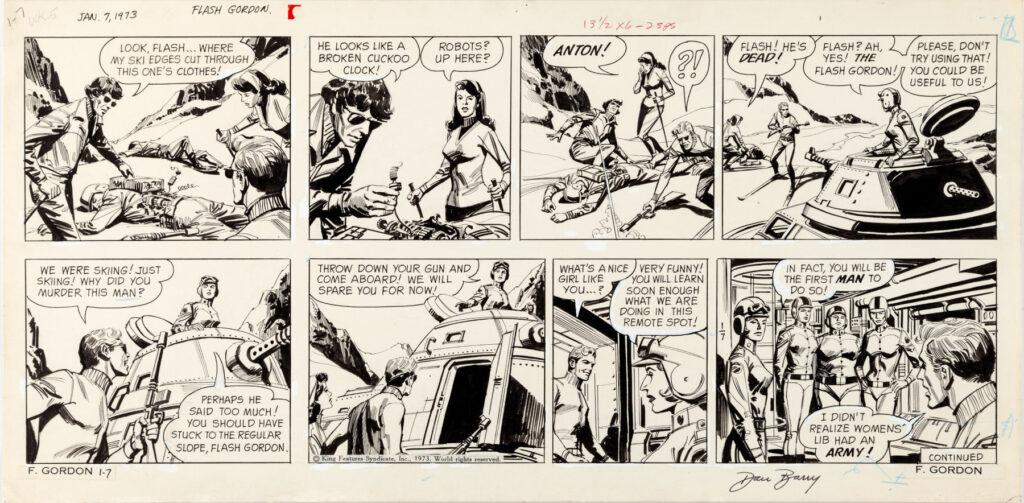Flash Gordon Sunday 1 7 73 by Dan Barry
