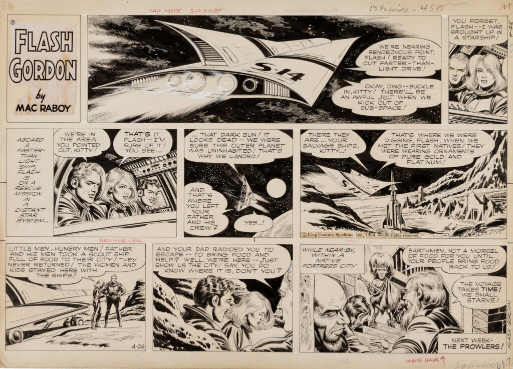 Flash Gordon Sunday 4 26 64 by Mac Raboy