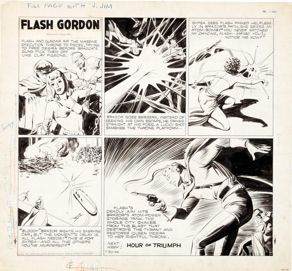 Flash Gordon Sunday 7 30 44 by Austin Briggs