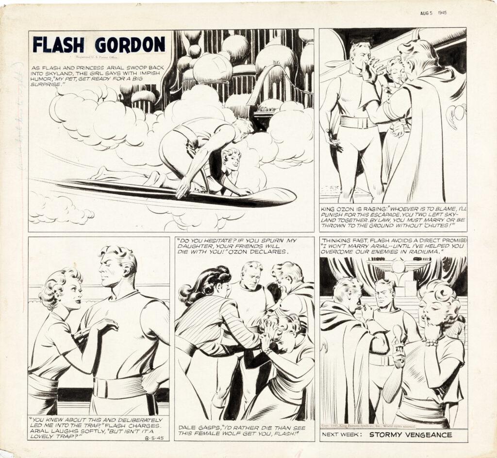Flash Gordon Sunday 8 5 45 by Austin Briggs
