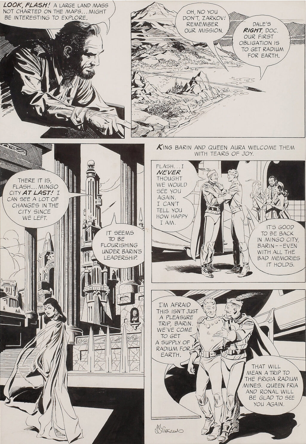 Flash Gordon issue 1 page 5 by Al Williamson