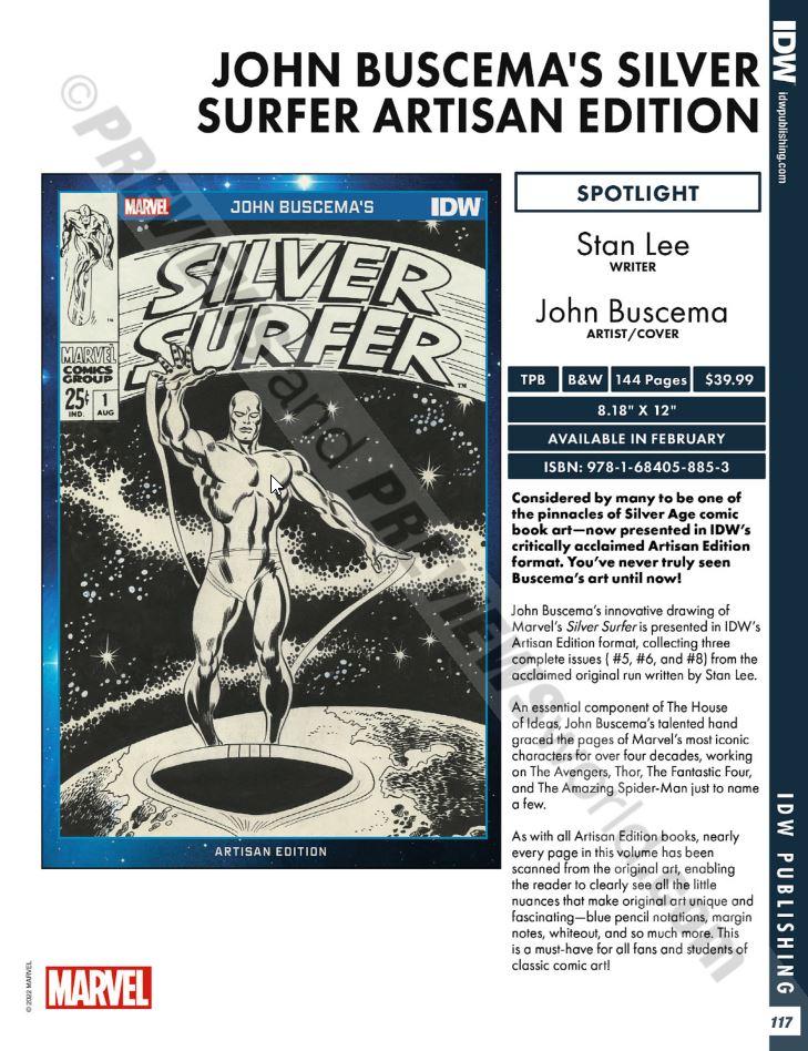 John Buscemas Silver Surfer Artisan Edition Previews