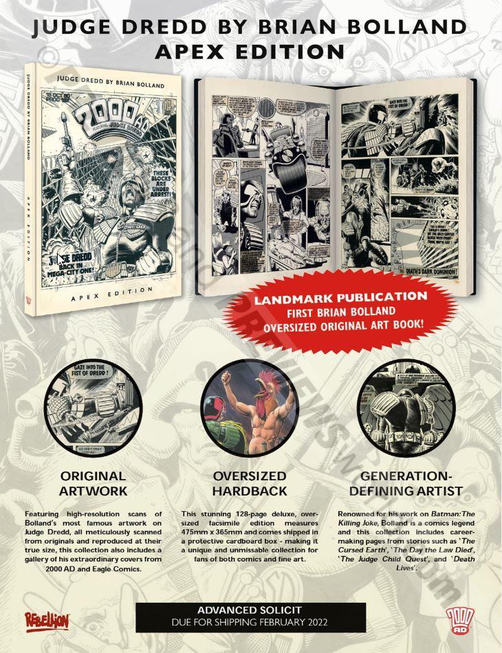 Judge Dredd by Brian Bolland Apex Edition Previews