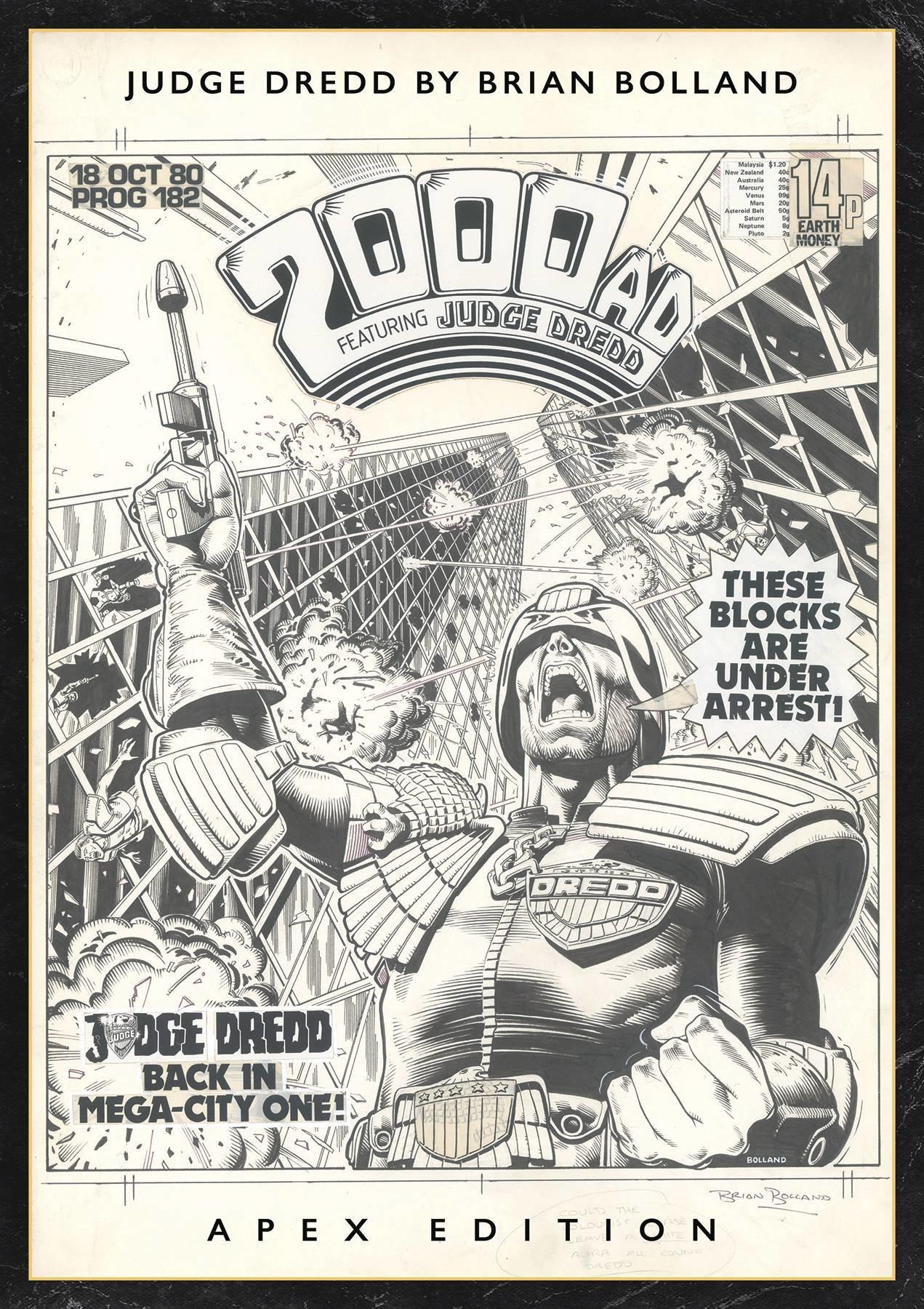 Judge Dredd by Brian Bolland Apex Edition prelim cover